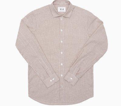 Six Edges Striped Summer Shirt Redwood