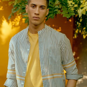 Six Edges Piuma Summer Shirt Yellow Fields