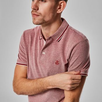 Selectedhomme SLHtwist Polo Brick Red Twisted