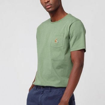 Edmmond Yoga Pocket Tee Plain Green