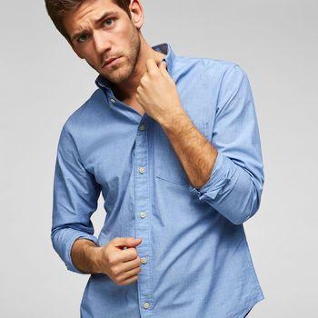Selectedhomme SLHREGlandon Perfect shirt Light Blue