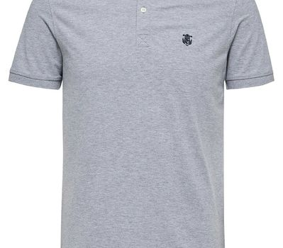 Selectedhomme SLharo SS polo Medium Grey Melange