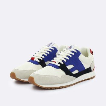 Faguo Sneakers CREAM NYLON AND SUEDE RUNNINGS