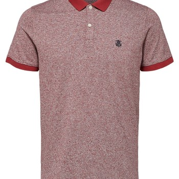 Selectedhomme Superior SS Polo Brick Red Jaquard