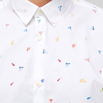 Selectedhomme SLHSLIMBent SHIRT AOP White Multi
