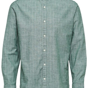 Selectedhomme SLHslimnolan-china Dark Green Stripes